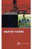 Papel MARTIN FIERRO (POESIA GAUCHESCA ARGENTINA) (RUSTICA)