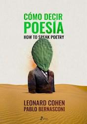 Libro Como Decir Poesia