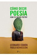 Papel COMO DECIR POESIA / HOW TO SPEAK POETRY [BILINGÜE] [ILUSTRADO]