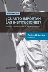 Papel Cuanto Importan Las Instituciones