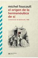 Papel ORIGEN DE LA HERMENEUTICA DE SI CONFERENCIAS DE DARTMOUTH 1980
