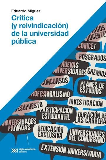 Papel Crítica (Y Reivindicación) De Universidad Pública
