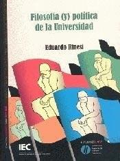 Papel FILOSOFIA (Y) POLITICA DE LA UNIVERSIDAD