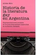 Papel HISTORIA DE LA LITERATURA GAY EN ARGENTINA REPRESENTACI  ONES SOCIALES DE LA HOMOSEXUALIDAD