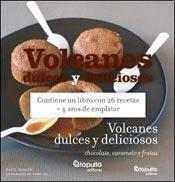 Papel VOLCANES DULCES Y DELICIOSOS (CONTIENE UN LIBRO CON 26  RECETAS + 4 AROS DE EMPLATAR)