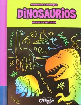 Papel Aprende A Dibujar, Raspa Y Colorea: Dinosaurios