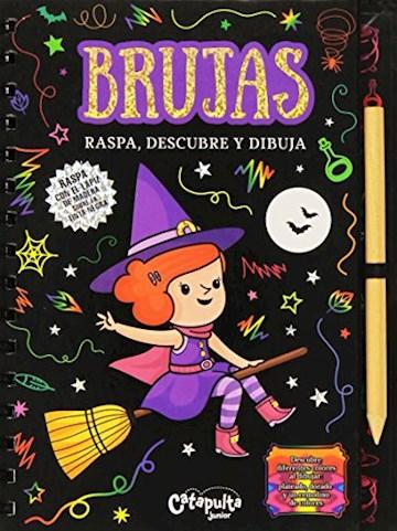 Papel Raspa, Descubre Y Dibuja: Brujas
