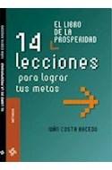 Papel LIBRO DE LA PROSPERIDAD 14 LECCIONES PARA LOGRAS TUS ME
