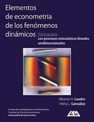 Libro 1. Elementos De Econometria Y De Los Fenomenos Dinamicos