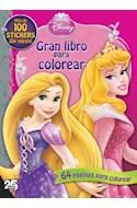 Papel GRAN LIBRO PARA COLOREAR DISNEY PRINCESA (MAS DE 100 ST  ICKERS DE REGALO)