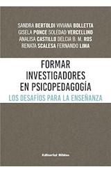 E-book Formar investigadores en Psicopedagogía