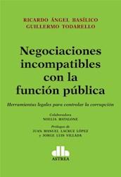 Libro Negociaciones Incompatibles Con Funcion Publica