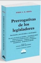 Libro Prerrogativas De Los Legisladores