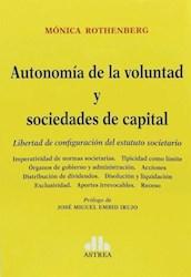 Libro Autonomia De La Voluntad Y Sociedades De Capital