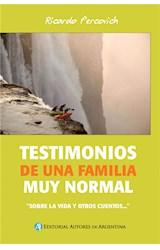 E-book Testimonios de una familia muy normal