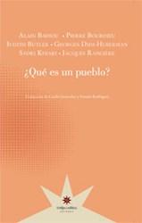 Libro Que Es Un Pueblo ?