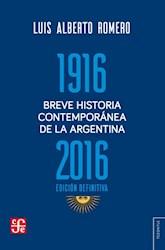 Libro Breve Historia Contemporanea De La Argentina 1916 - 2016