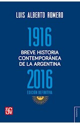 Papel BREVE HISTORIA CONTEMPORANEA DE LA ARGENTINA 1916-2016 EDICI