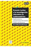 Papel ERNESTO LACLAU Y LA INVESTIGACION EDUCATIVA EN LATINOAMERICA