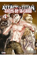 Papel ATTACK ON TITAN 4 (ANTES DE LA CAIDA) (BOLSILLO)