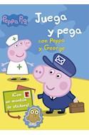 Papel PEPPA PIG JUEGA Y PEGA CON PEPPA Y GEORGE (CON UN MONTON DE STICKERS) (ILUSTRADO) (RUSTICO)