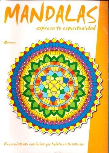 Papel Mandalas (Naranja) Expresa Tu Espiritualidad