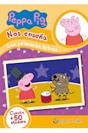 Papel PEPPA PIG NOS ENSEÑA LAS PRIMERAS LETRAS (CUENTO + 50 STICKERS) (RUSTICA)