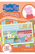 Papel PEPPA PIG NOS ENSEÑA LOS ALIMENTOS [CUENTO Y MAS DE 50 STICKERS] (MIS PERSONAJES FAVORITOS)