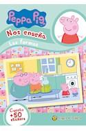 Papel PEPPA PIG NOS ENSEÑA LAS FORMAS (CUENTO + 50 STICKERS) (RUSTICA)