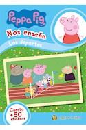 Papel PEPPA PIG NOS ENSEÑA LOS DEPORTES (CUENTO + 50 STICKERS) (RUSTICA)