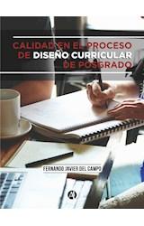 E-book Calidad en el proceso de diseño curricular de posgrado
