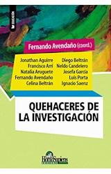 Papel QUEHACERES DE LA INVESTIGACION