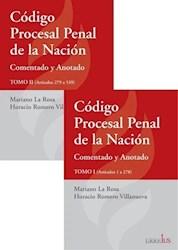 Libro Codigo Procesal Penal De La Nacion ( 2 Tomos )
