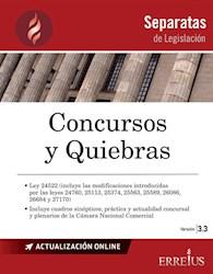 Libro Separatas De Legislacion : Concursos Y Quiebras