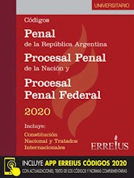 Codigos : Penal / Procesal Penal Y Procesal Penal Federal 2020