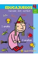 Papel EDUCAJUEGOS 4 CALCULAR LEER ESCRIBIR [8-9 AÑOS] (COLECCION EDUCAJUEGOS)
