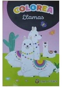 Papel Coleccion Minilibros Para Colorear - Llamas