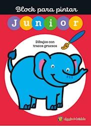 Libro Block Para Pintar Junior 3 : Elefante