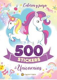 Papel 500 Stickers De Unicornios