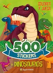 Libro 500 Stickers : Dinosaurios Ed 2020