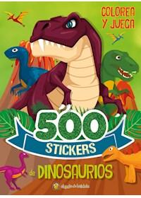 Papel 500 Stickers De Dinosaurios