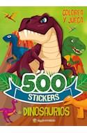 Papel 500 STICKERS DE DINOSAURIOS (COLECCION 500 STICKERS) [COLOREA Y JUEGA]