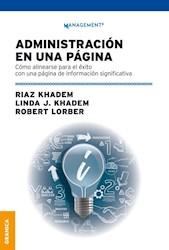Libro Administracion En Una Pagina