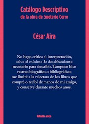 Libro Catalogo Descriptivo De La Obra De Emeterio Cerro