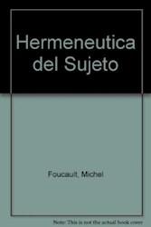 Libro Hermeneutica Del Sujeto