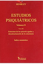 Papel ESTUDIOS PSIQUIATRICOS VOL.I TOMO 1 HISTORIA - METODOLOGIA -