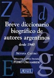 Papel Breve Diccionario Biografico De Autores Arg