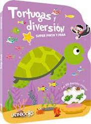 Libro Super Pinta Y Pega Tortugas Y Diversion