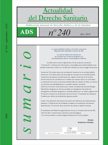 E-book Actualidad Del Derecho Sanitario Enero - Septiembre 2016 | Actualidad Del Derecho Sanitario Enero - Septiembre 2016