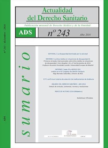 E-book Actualidad Del Derecho Sanitario 2016 / Enero- Diciembre